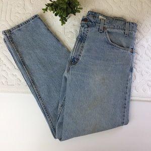 Levi's 550 Orange Tab tapered mom jeans 34x30   P2